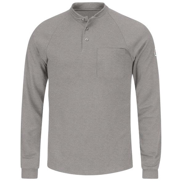 Bulwark FR 6.25 oz. Henley Shirt SML2 Gray Front