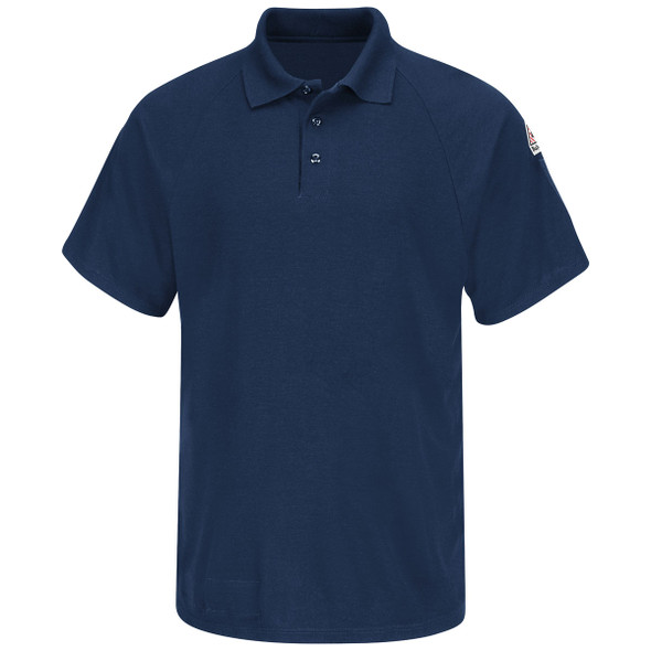 Bulwark FR Cooltouch 2 Short Sleeve Polo Shirt SMP8 Navy Front