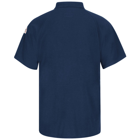 Bulwark FR Cooltouch 2 Short Sleeve Polo Shirt SMP8 Navy Back