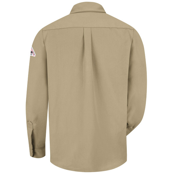 Bulwark FR Dress Shirt 7 oz SMU2 Khaki Back