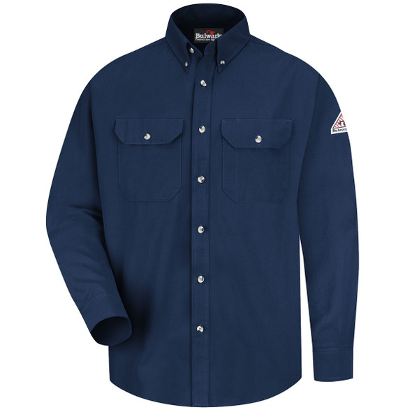 Bulwark FR Dress Shirt 7 oz SMU2 Navy Front