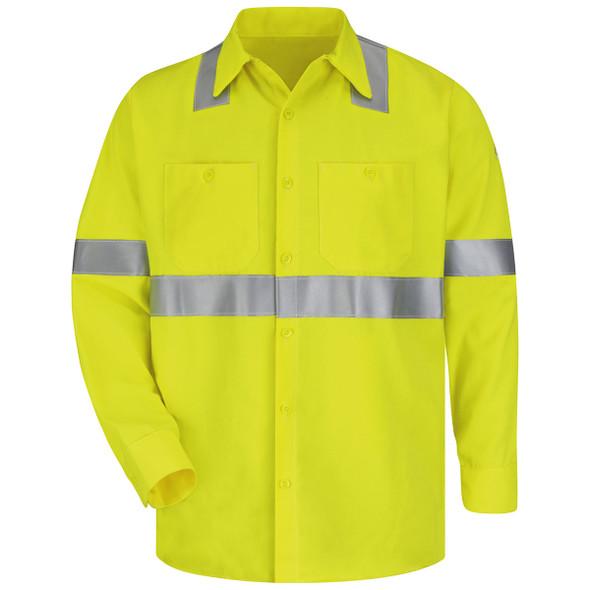 Bulwark FR Class 3 Hi-Vis CoolTouch Work Shirt SMW4HV Front