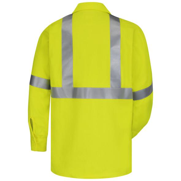 Bulwark FR Class 3 Hi-Vis CoolTouch Work Shirt SMW4HV Back