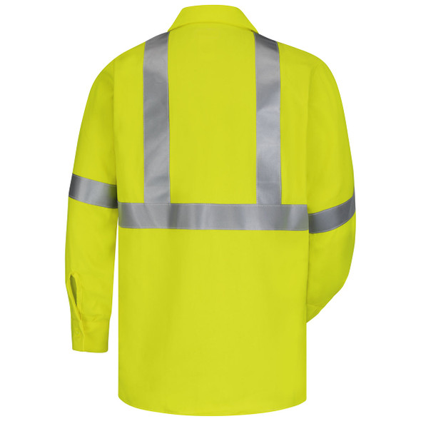 Bulwark FR Class 3 Hi-Vis CoolTouch Work Shirt SMW4HV Back