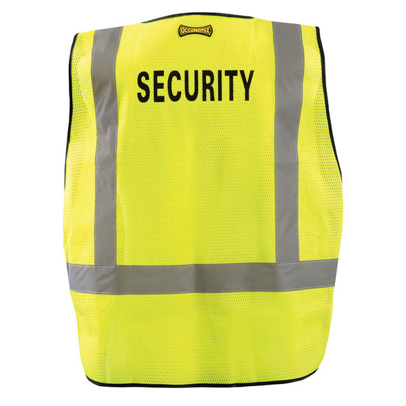 Occunomix Class 2 Hi Vis Yellow Security Public Safety DOR Mesh Vest LUX-PSSE-DOR Back