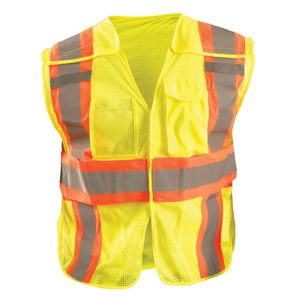 Occunomix Class 2 Hi Vis Yellow Adjustable Safety Vest LUX-SC2TB Front