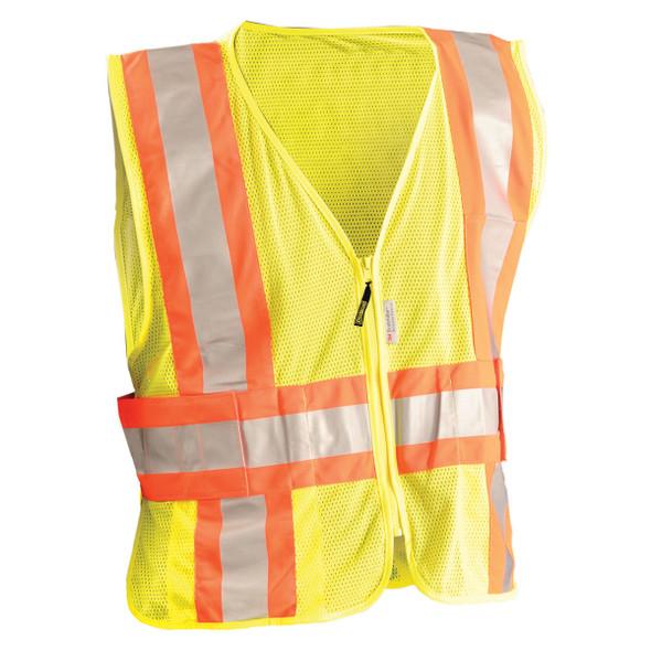 Occunomix Class 2 Hi Vis Yellow Mesh Safety Vest LUX-SC2TZ Front