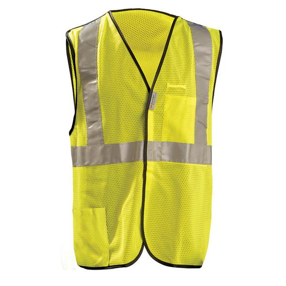 Occunomix Class 2 Hi Vis 5-Point Break-Away Mesh Safety Vest LUX-SSBRPC Yellow Front