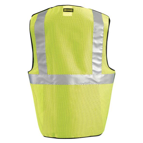 Occunomix Class 2 Hi Vis 5-Point Break-Away Mesh Safety Vest LUX-SSBRPC Yellow Back