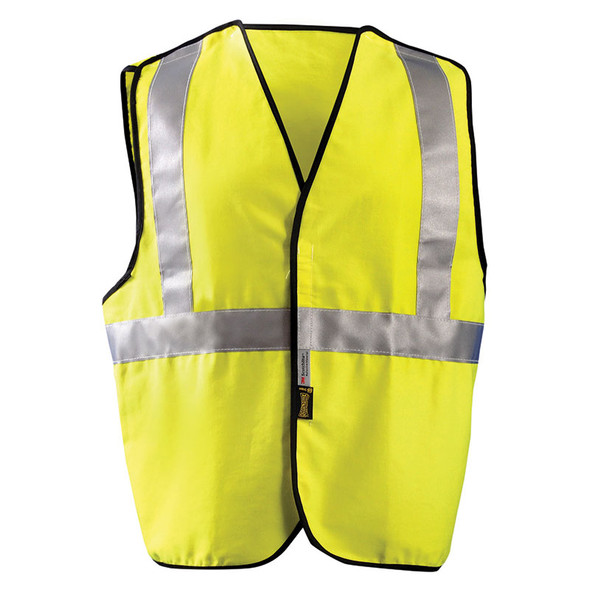 Occunomix FR Class 2 Hi Vis Yellow Break-Away Solid Vest LUX-SSCBRFR