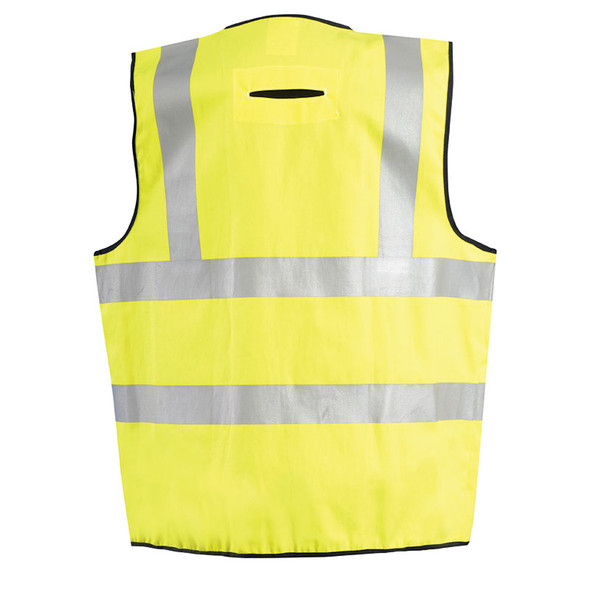 Occunomix FR Class 2 Hi Vis Yellow FR Safety Vest LUX-SSCFGFR Back