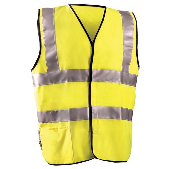 Occunomix FR Class 2 Hi Vis Yellow FR Safety Vest LUX-SSCFGFR Front