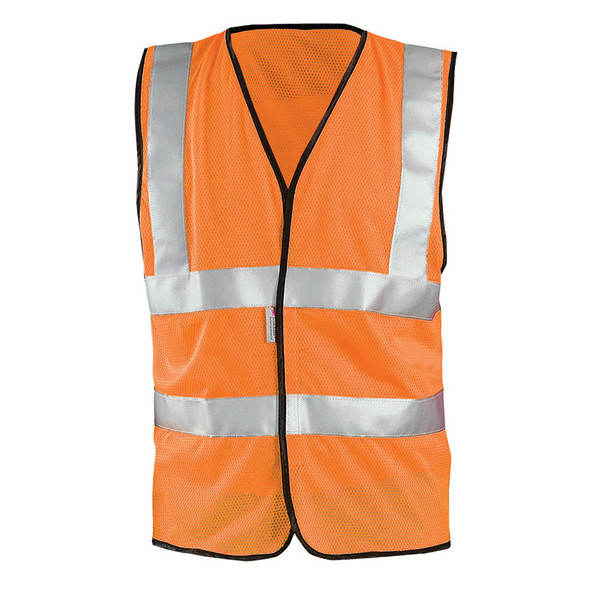 Occunomix Class 2 Hi Vis Mesh Safety Vest LUX-SSCOOLG Orange Front