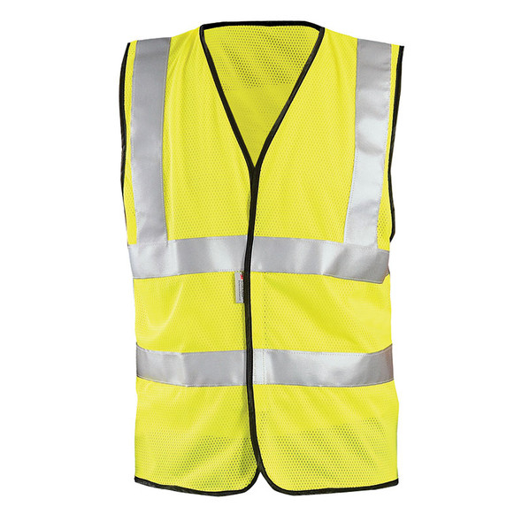 Occunomix Class 2 Hi Vis Mesh Safety Vest LUX-SSCOOLG Yellow Front