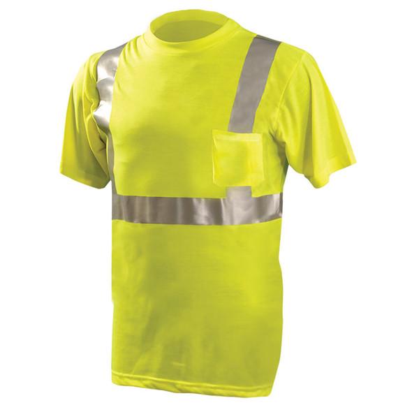 Occunomix Class 2 Hi Vis Spun Polyester T-Shirt LUX-SSETP2 Yellow Front