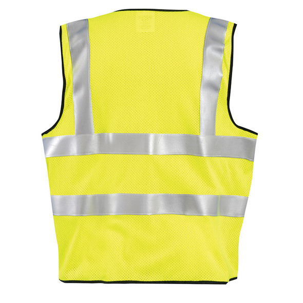Occunomix FR Class 2 Hi Vis Yellow Mesh Safety Vest LUX-SSFGCFR Back