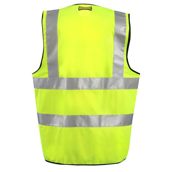 Occunomix Class 2 Hi Vis Yellow Surveyor Vest with ID Pocket LUX-SSFULLZ Back