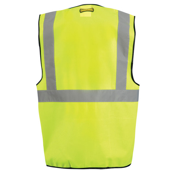 Occunomix Class 2 Hi Vis Solid Safety Vest LUX-SSG Yellow Back