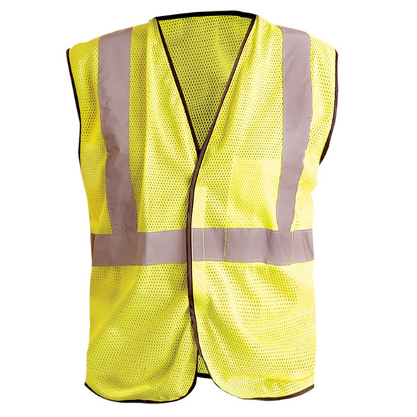 Occunomix Class 2 Hi Vis Mesh Safety Vest LUX-SSGC Yellow Back