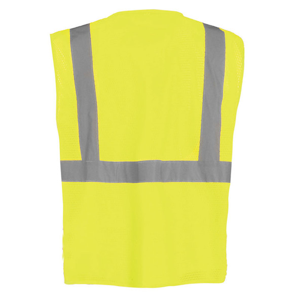 Occunomix Class 2 Hi Vis 12 Pocket Mesh Surveyors Vest LUX-SSGCS Yellow Back