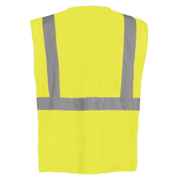 Occunomix Class 2 Hi Vis 12 Pocket Mesh Surveyors Vest LUX-SSGCS Yellow Back
