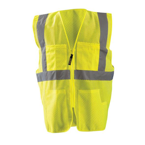 Occunomix Class 2 Hi Vis 12 Pocket Mesh Surveyors Vest LUX-SSGCS Yellow Front