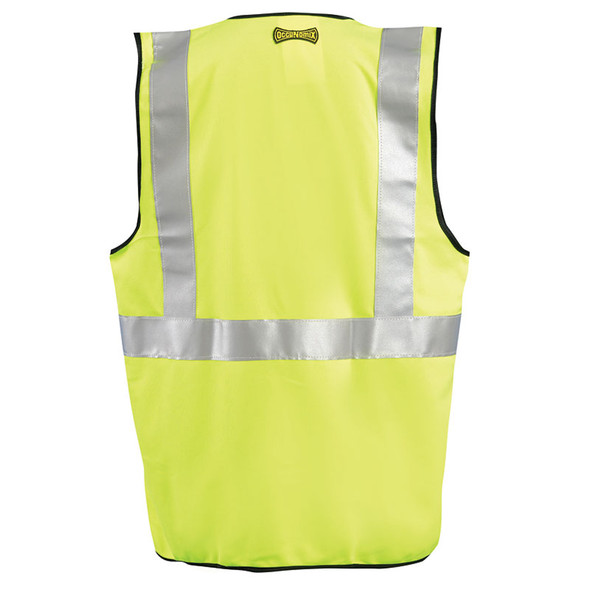 Occunomix Class 2 Hi Vis Yellow Solid Safety Vest LUX-SSGZ Back