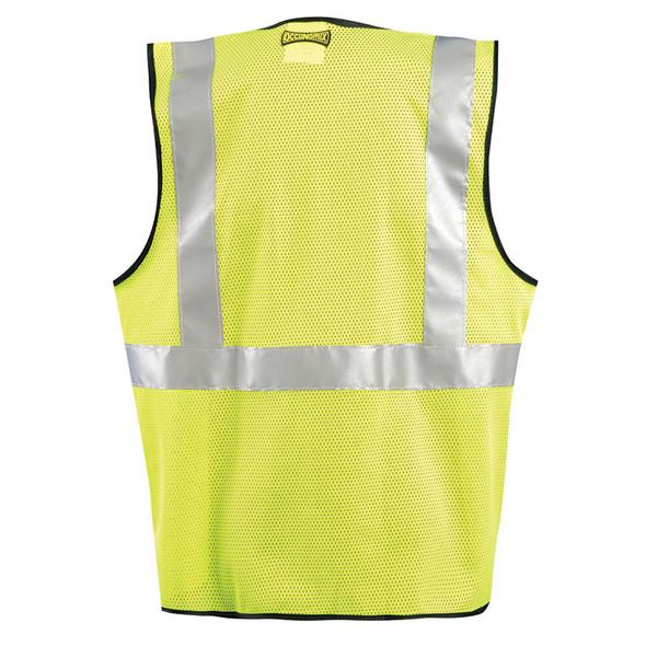 Occunomix Class 2 Hi Vis Mesh Safety Vest LUX-SSGZC Back