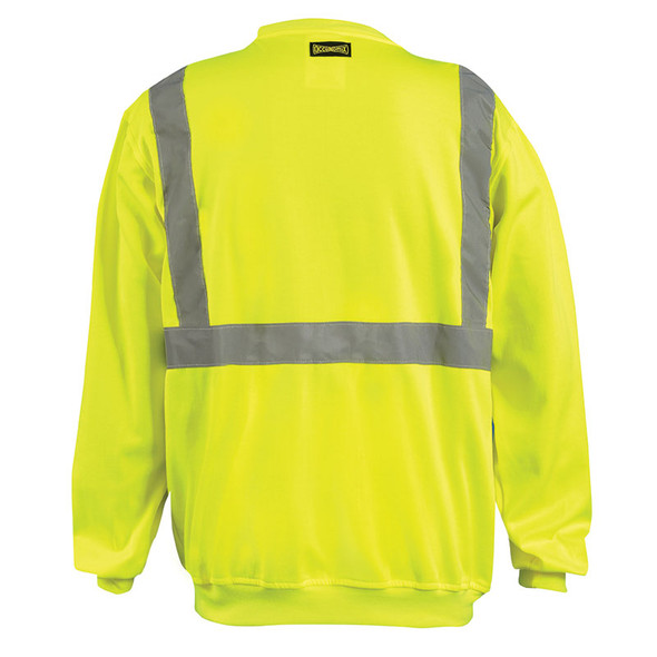 Occunomix Class 2 Hi Vis Yellow Crew Neck Sweatshirt LUX-SWTL Back