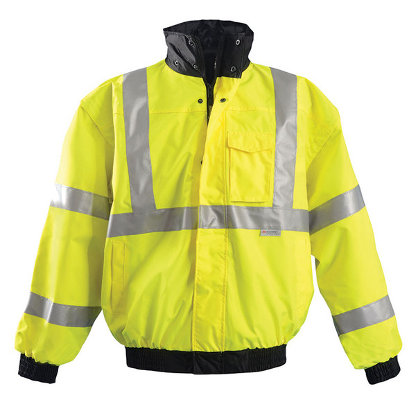 Occunomix Class 3 Hi Vis 4-in1 Bomber Jacket LUX-TJBJ Yellow Front