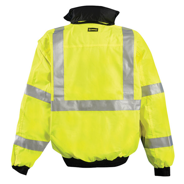 Occunomix Class 3 Hi Vis 4-in1 Bomber Jacket LUX-TJBJ Yellow Back