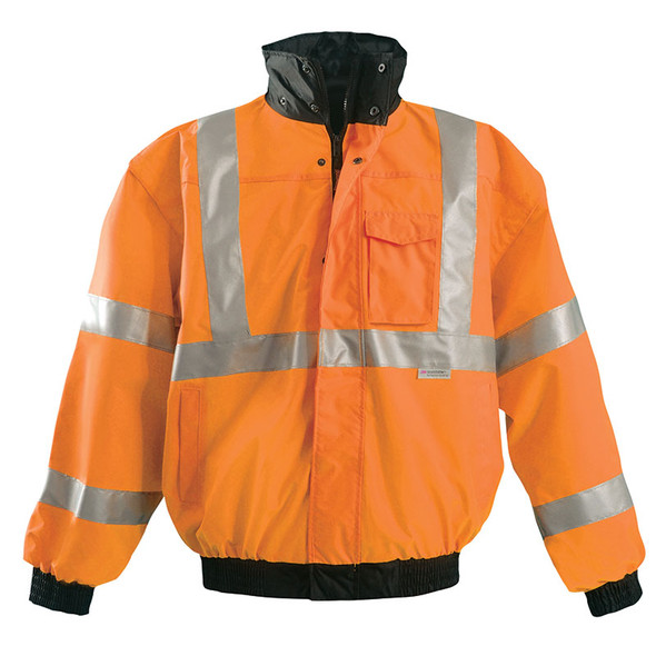 Occunomix Class 3 Hi Vis 4-in1 Bomber Jacket LUX-TJBJ Orange Front