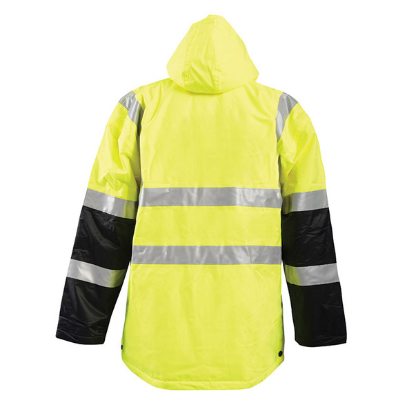 Occunomix Class 3 Hi Vis Insulated Waterproof Cold Weather Parka LUX-TJCW Back