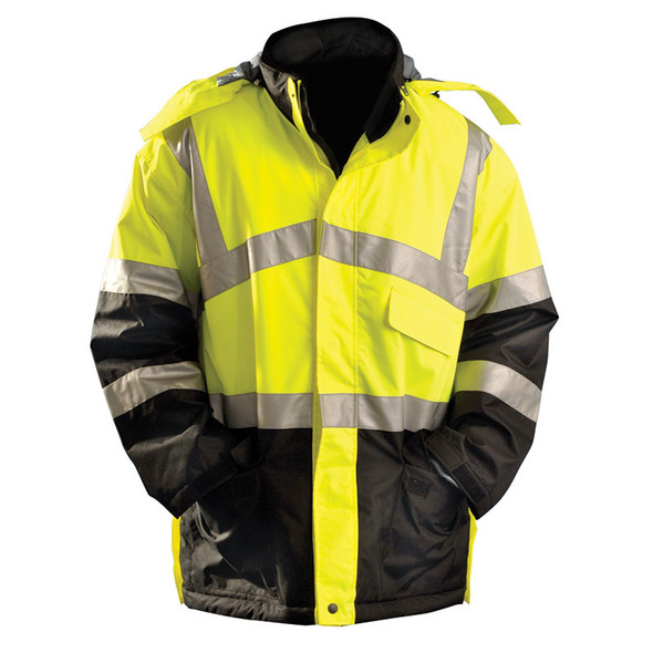 Occunomix Class 3 Hi Vis Insulated Waterproof Cold Weather Parka LUX-TJCW Front
