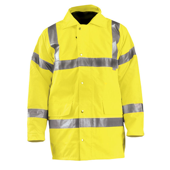 Occunomix Class 3 Hi Vis 5-in-1 Winter Coat LUX-TJFS Yellow Front
