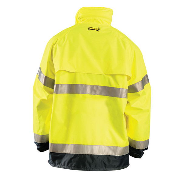 Occunomix Class 3 Hi Vis Breathable Rain Jacket LUX-TJR Yellow Back