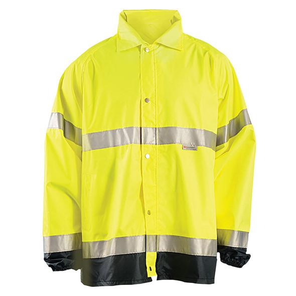 Occunomix Class 3 Hi Vis Breathable Rain Jacket LUX-TJR Yellow Front