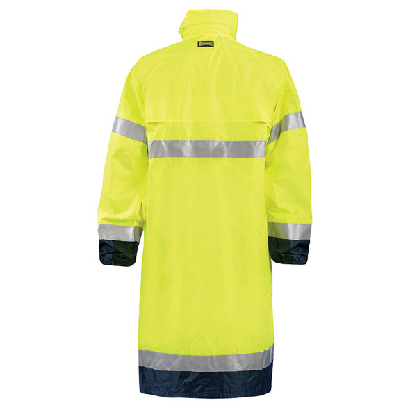 Occunomix Class 3 Hi Vis Yellow Black Bottom Trim Rain Jacket LUX-TJRE Back