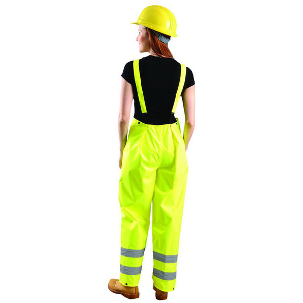 Occunomix Class E Hi Vis Breathable Waterproof Rain Bib LUX-TRBIB Back