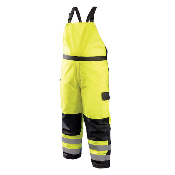 Occunomix Class E Hi Vis Cold Weather Bib Pants LUX-WBIB Yellow Front