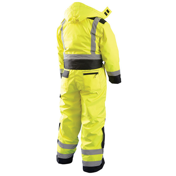 Occunomix Class 3 Hi Vis Cold Weather Coverall LUX-WCVL Back