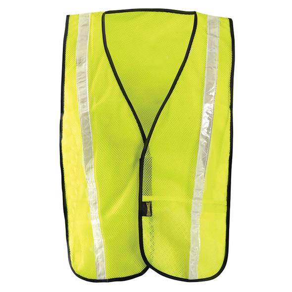 Occunomix Non ANSI Hi Vis Mesh Vest Gloss Reflective LUX-XGTM Yellow