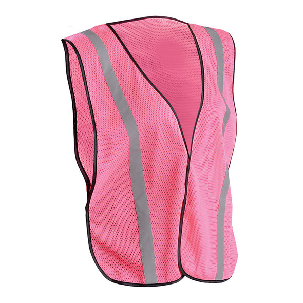Occunomix Non-ANSI Pink Mesh Safety Vest With Reflective LUX-XSBML-P Front