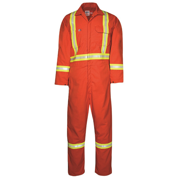 Big Bill FR X-Back Reflective UltraSoft Unlined Coveralls 1325US7 Orange