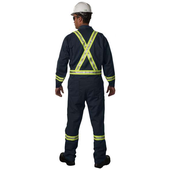 Big Bill FR X-Back Reflective UltraSoft Unlined Coveralls 1325US7 Back