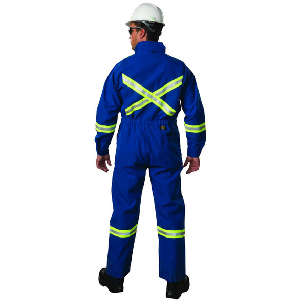 Big Bill FR X-Back UltraSoft 7 oz Deluxe Unlined Coveralls 1625US7 Royal Blue bACK