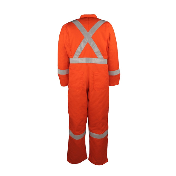Big Bill Class 3 Hi Vis X-Back Orange Cold Weather Insulated Duck Coverall 804CRT Back