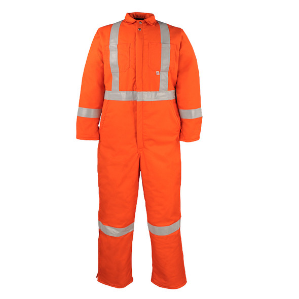 Big Bill Class 3 Hi Vis X-Back Cold Weather Insulated Twill Coverall 838CRT Front
