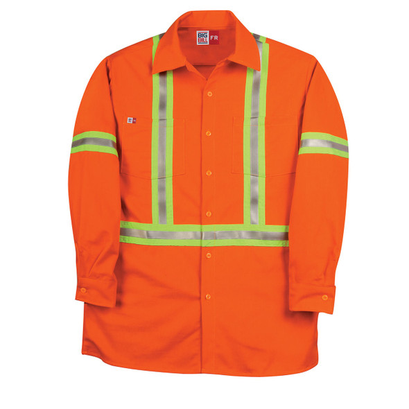 Big Bill FR Hi Vis X-Back Westex UltraSoft Work Shirt 235US7 Orange