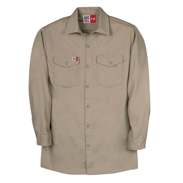 Big Bill FR Westex UltraSoft Work Shirt TX231US7 Khaki